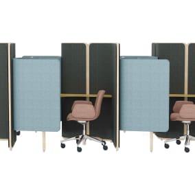 Orangebox Coppice, Orangebox Cubb Chair,Bolia Bureau Table Lamp