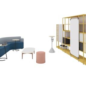 Steelcase Flex Stand Table, Turnstone Bassline Table, Orangebox Away From The Desk, Orangebox Lapwing, Orangebox Bligh & Fletcher