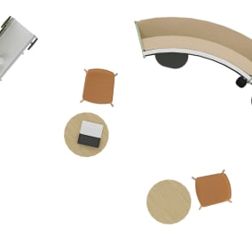 Steelcase Flex Huddle Hub, Steelcase Flex Collection, Steelcase Roam Collection, Coalesse Montara650 Seating, Orangebox Cubb Stool