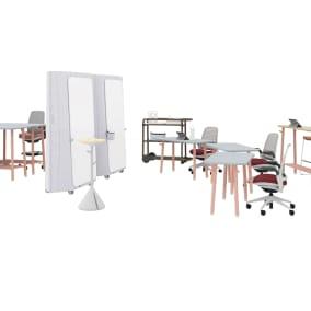 Steelcase Flex Collection, Steelcase Flex Mobile Power, Steelcase Series 1 Chair, Orangebox Cubb Stool