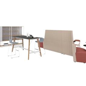 Steelcase Flex Mobile Power, Steelcase Flex Collection, Coalesse LessThanFive, Coalesse Monatra650 Table, OrangeBox Away From The Desk, OrangeBox Cubb Table, OrangeBox Cubb Stool