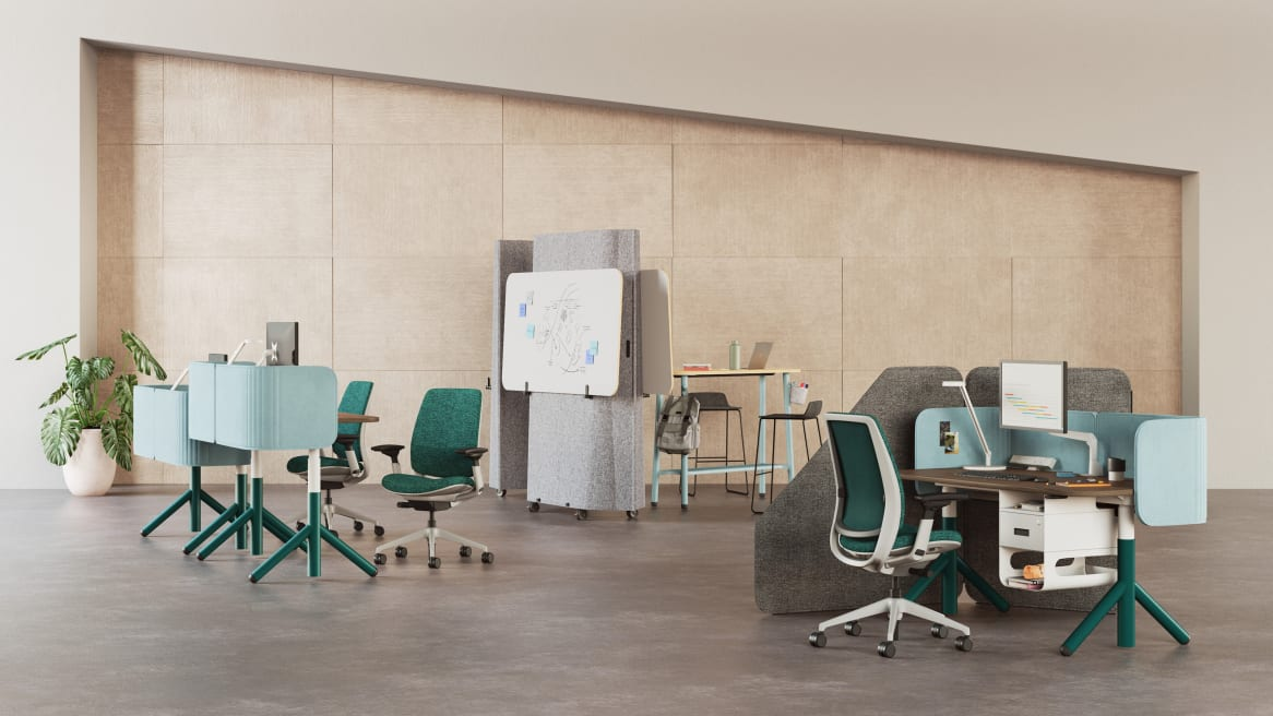 Series 2, Steelcase Flex Acoustic Boundary, Steelcase Flex Screens, Steelcase Flex Height-Adjustable Desk